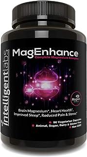 Intelligent Labs Complemento de Magnesio MagEnhance, Complejo de L-Treonato de Magnesio, con Glicinato y Taurato de Magnesio, Vitamina de Magnesio
