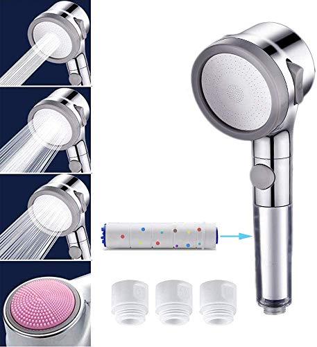 シャワーヘッド 塩素除去 高水圧 節水 浄水 マイクロバブルシャワーヘッド 極細水流 3段階モード 手元止水 水漏れ防止 取り付け簡単