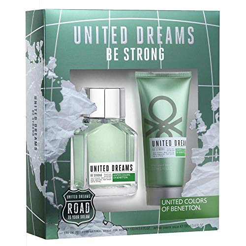 Kit Perfume Masculino Benetton United Dreams Be Strong EDT