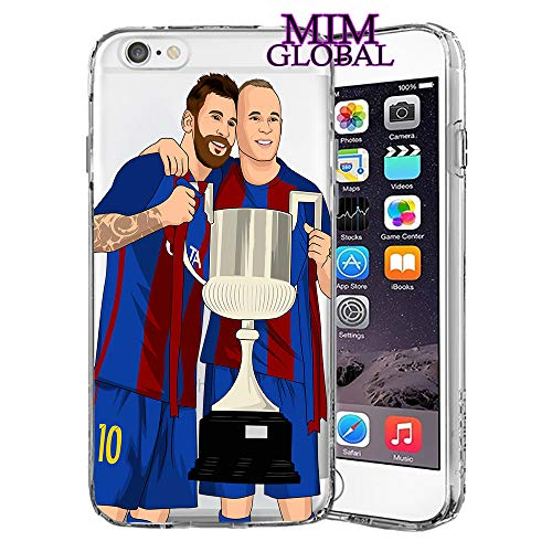 MIM Global Football Futbol Soccer Protectores Case Cover Compatible para Todos iPhone (iPhone 5/5s/SE, Duo)