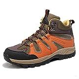 Zapatillas Senderismo Hombre Zapatos Trekking Antideslizantes Bajos Botas De Montaña AL Aire Libre Transpirable Sneakers,Naranja,38