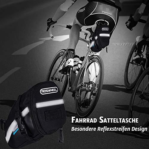 TBoonor Fahrrad Satteltasche mit 16 in 1 Werkzeuge Fahrrad Reparatur Set umfassen Fahhradtasche und Werkzeugsets und Fahrradventil Adapter die Fahrrad-Reparatur für Mountainbikes und Rennräder - 7