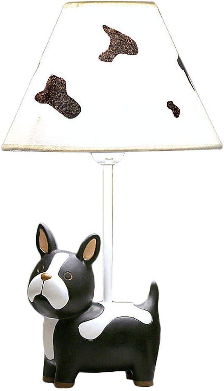 Cartoon schwarz Cute Puppy Tischlampe LED Dimmbare Nachttischlampe Kreative Kinderzimmer Dekorative Tischlampe