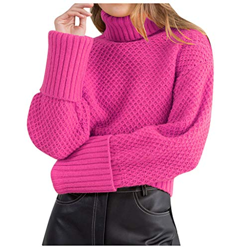 Vrouwen Losse Pullover Jumper Winter Warm Coltrui Gebreide trui Dames Herfst Plus Size Shirts Meisjes Lange Mouw Sweatshirt Crop Tops Blouse