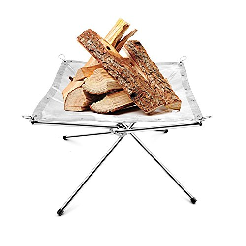 Find Discount Outdoor Portable Fire Pit Camping Wood holder Rack with a Free Carry Bag