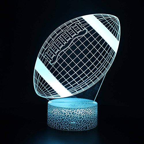 Laluz nocturna3D fútbolla luz nocturna pequeña con luz fantasma LED la lámpara de mesa de color con control remoto son los mejores regalos para los niños