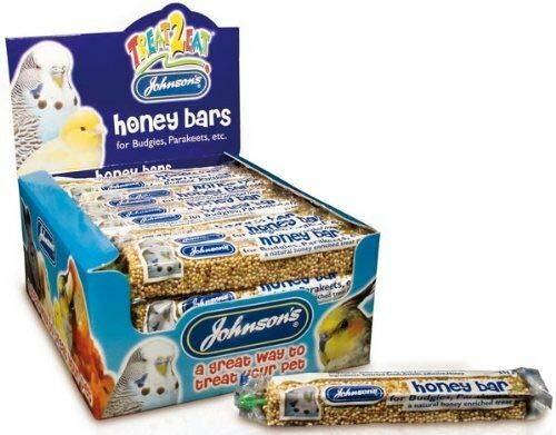 Johnsons Bulk Box Treat 2 Eat Budgie/Parakeet Honey Bars 1x40