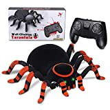 MECO Spider Scary Toy Wall Driving Climber Remote Control Realistic RC Prank Halloween Christmas Children (Black and Red)