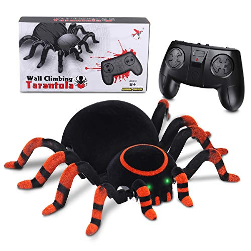 MECO Spider Scary Toy Wall Driving Climber Remote Control...