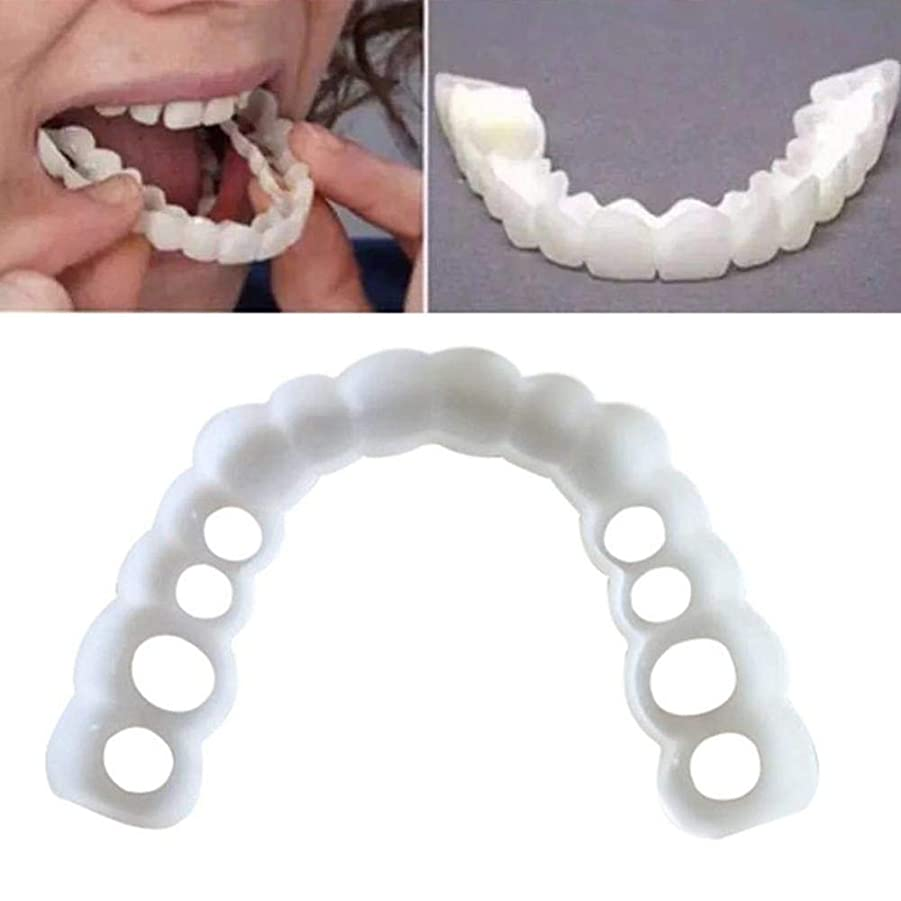 ポテトライナー不忠ソフト化粧品歯のための適切な美しいコンフォートの2ペアは、上部と下部のメイクベニアを入れ歯