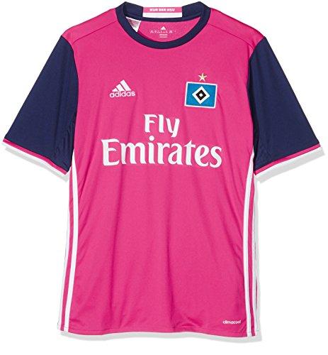 adidas Kinder HSV Auswärts Trikot, Shock Pink/White, 176