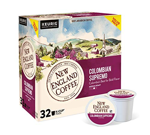 New England Coffee Colombian Supremo Medium Roast K-Cup Pods 32 ct. Box