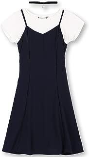 Girls' Big Pebble Crepe Slip Dress