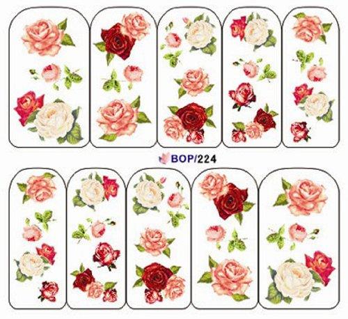 ■B224■ 花柄 ウォーターネイルシール 写ネイルっぽい!!  ジェルネイルやスカルプにおススメ