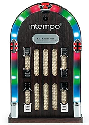 Intempo EE1269BRN Mini Jukebox with Bluetooth and LED lights, Brown from Intempo