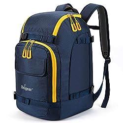 small Unigear ski boot bag, 50L ski boot travel backpack for ski helmets, goggles, gloves, skis, etc.