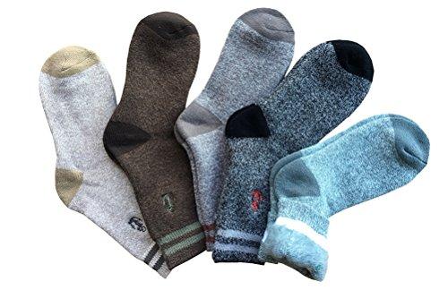 Santwo 5confezione uomo misto lana calda Knited morbido comfort, da donna, taglia 6–12 Style D(5 Pairs) 28 EU