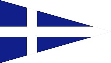 DIPLOMAT-FLAGS Greek Royal Navy Senior Officer s Bandera | Bandera Paisaje | 0.06m² | 20x30cm Banderas de Coche