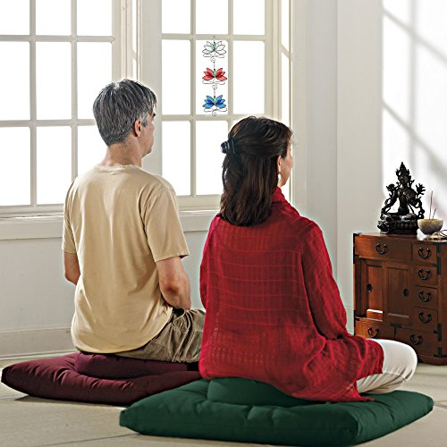 DharmaCrafts Classic Zafu and Zabuton Set (ZZSet) Meditation Cushions (Maroon)