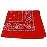 Bandana de color rojo y blanco, en ambos lados rojo rosso 55 x 55 cm