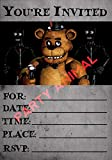 Five Nights at Freddy's Party Invitation Instant Download Wall Art Print Poster, Canvas Gallery Wraps Wall Decoration