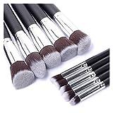 LXF JIAJU 10 PCS Synthetic Kabuki Maquillaje Pincel Conjunto Cosmetics Fundación Blush Makeup Herramienta De Maquillaje (Color : 1)