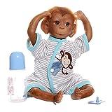 LIUCHANG Reborn Baby Dolls 49cm / 19.3inch, Muñeca de Mono de bebé recién...