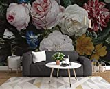 [page_title]-Fototapete 3D Effekt Tapeten Vintage Handgezeichnete Rose Blume Wandtapete Wandbild Wand Dekoration