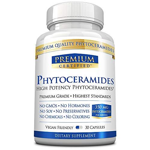 Phytoceramides Premium - Reverse, Replenish. & Repair Aging Skin |100% Pure Natural Phytoceramides - Vegan Friendly - 30 Capsules