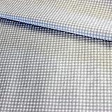 Pingianer Tela de algodón 100% para niños, por metros, artesanía, tela de costura, diseño de triángulos, pirámide (cuadros gris y blanco, pequeño, 100 x 160 cm)