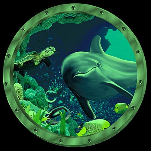 Amaonm 12 x12 Creative Removable Glow in The Dark Ocean View Wall Decals 3D Under The Sea Fish product image