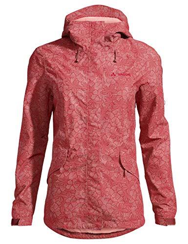 VAUDE Damen Jacke Womens Rosemoor AOP Jacket, Dusty Rose, 42, 42007