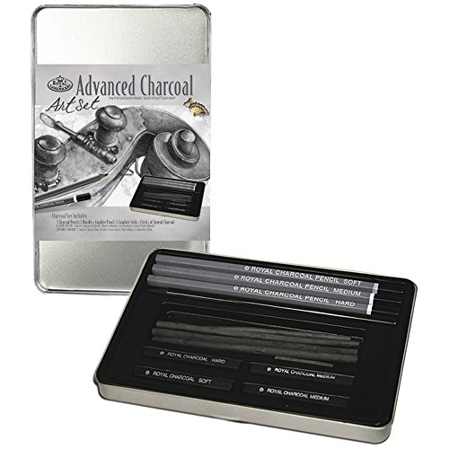 Royal & Langnickel RSET-ART2503 Small Tin Charcoal Drawing Art Set