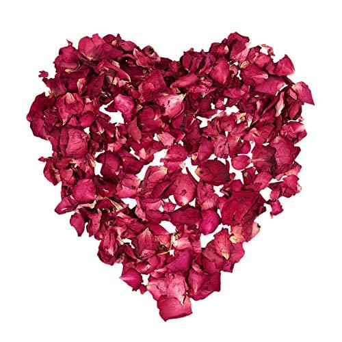 TOOGOO 1 Bolsa de Petalos Secos de Rosa Natural para Boda Confeti