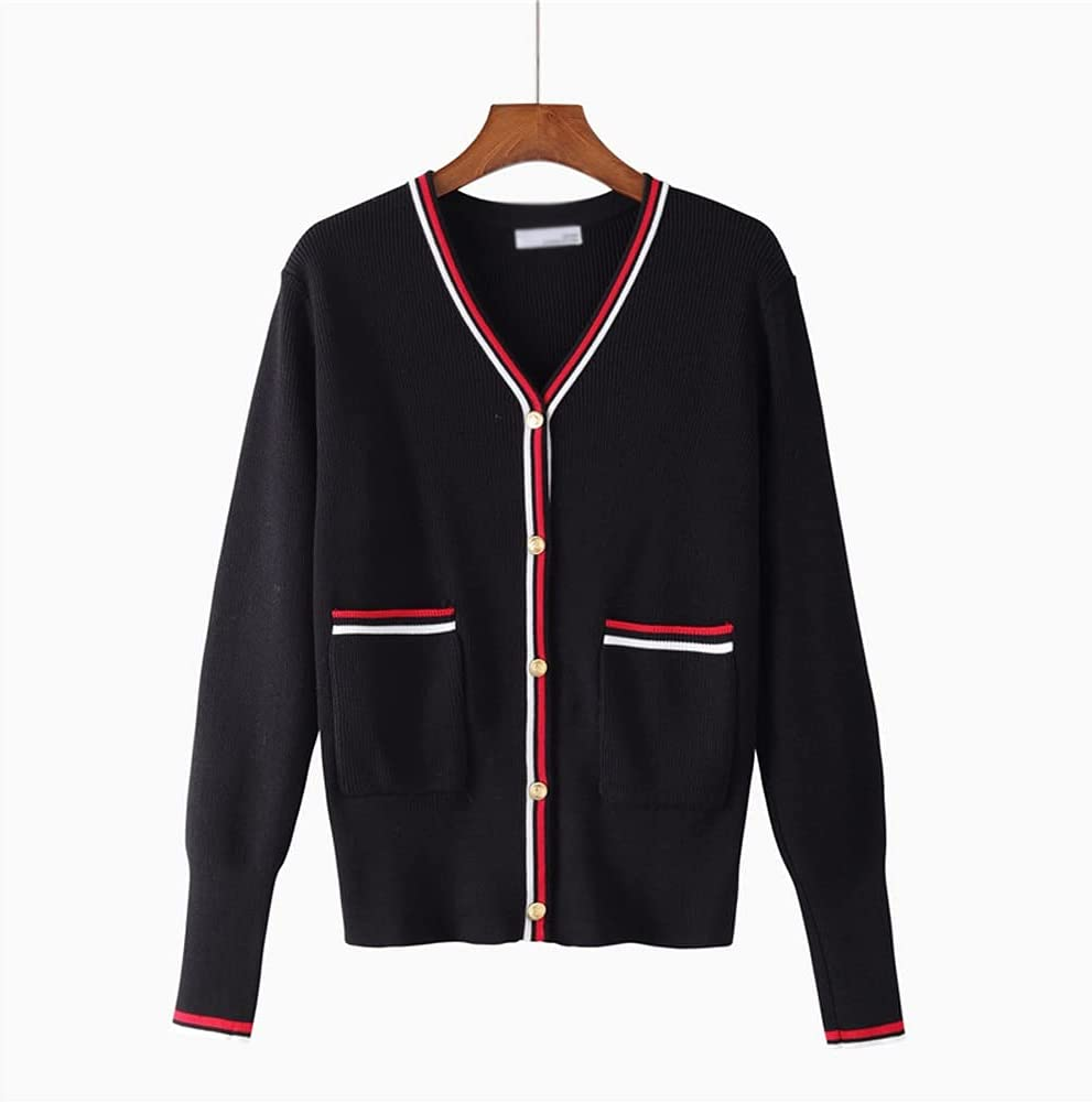 CDQYA Autumn Women Casual Cardigans Knitted Max 86% OFF Sweater Cheap SALE Start Long Sleeve