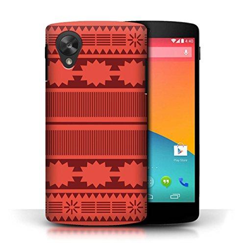 Stuff4 Hülle/Case für LG Google Nexus 5/D821 / Aztek/Prinzessin Kleid Muster/Karikatur Polynesische Prinzessin Kollektion