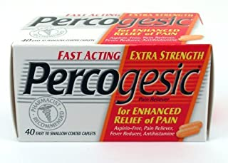 Percogesic Aspirin Extra Strength Coated Caplets, 40 Count by Percogesic