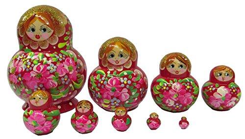 Leven Onnabij Bloem Russische Matroesjka Nest van 10 Poppen