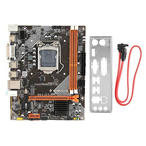 Desktop Computer Motherboard, DDR3 1066/1333/1600MHz LGA 1155 PC Main Board Support NVME+NGFF Dual Mode Hard Disk+SATA, 6‑Channel Sound Card