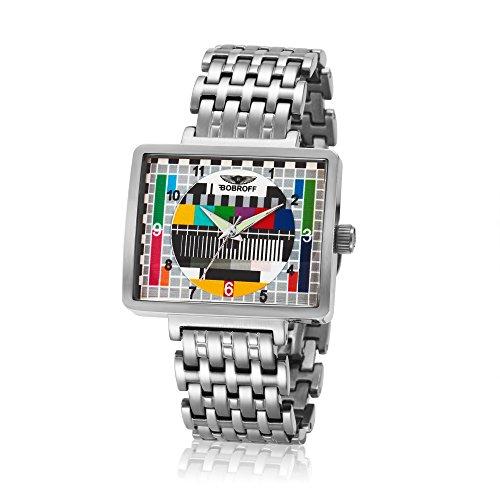 Bobroff Reloj Analógico para Mujer de Cuarzo con Correa en Acero Inoxidable BF0031