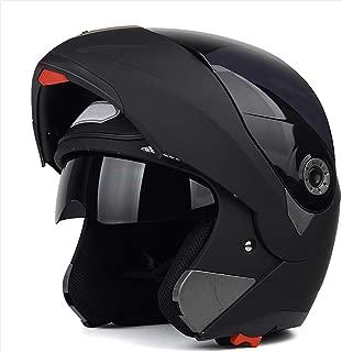 Motorcycle Helmet Double Lens Four Seasons, ECE DOT Motocross Helmet Adult, Anti-Fog Full Face Helmet Motorbike Helmet, Dirt Bike Helmets for Men