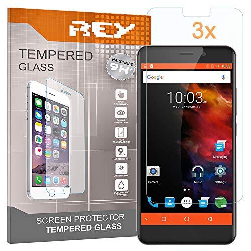 REY 3X Protector de Pantalla para UMI MAX, Cristal Vidrio Templado Premium