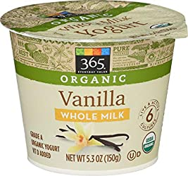 365 Everyday Value, Organic Whole Milk Yogurt, Vanilla, 5.3 oz