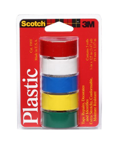 Scotch Super Thin Waterproof Vinyl Plastic Colored Tapes
