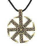 My Shape Slavic Kolovrat Pendant Amulet Slavic Sun Wheel Necklace Kolovrat Pagan Jewelry