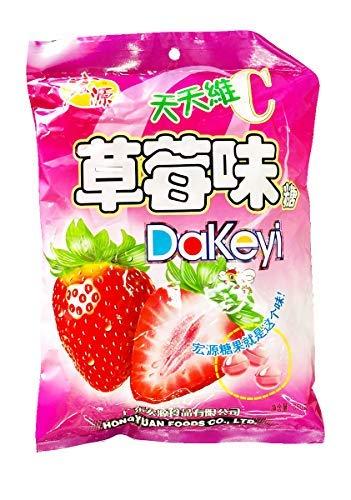 Hongyuan Dakeyi Strawberry Flavoured Hard Candy (350g), 1 Pack