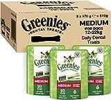 Greenies Daily Original Medium Dog Treats (from 12-22 kg) – The Smart Dental Treat – 18 Chews (3 x 170 g)
