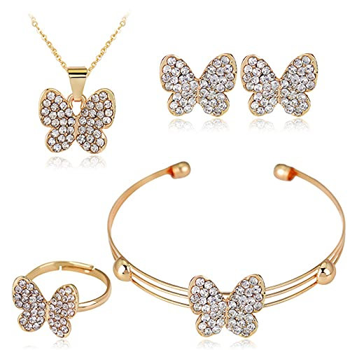 TUU Diamond Jewelry Set,Cubic Zirconia Earrings + Ring + Necklace +...