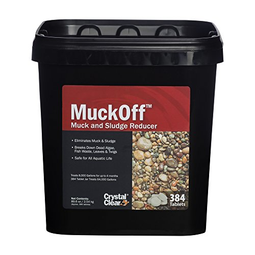 CrystalClear MuckOff - Muck & Sludge Reducer - 384 Tablets - Treats 16,000 Gallons for Up to 4 Months