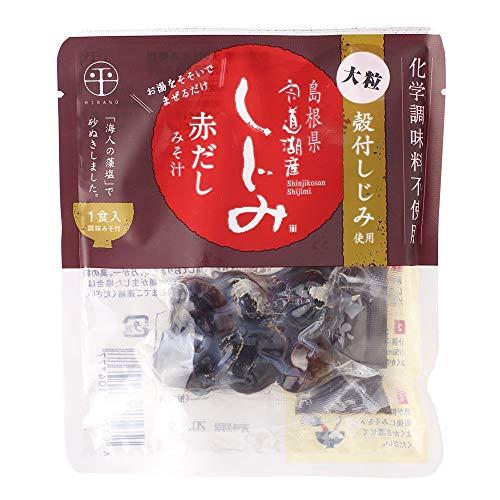 宍道湖産 即席大粒しじみ汁 赤だし 48g×10袋 平野缶詰 殻付しじみ使用 お湯をそそいでまぜるだけ